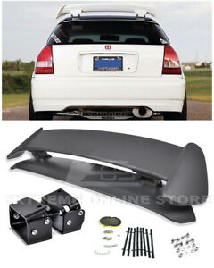 For 96 00 Civic Ej6 Type R Ctr Rear Roof Wing Spoiler W Black Alex Tilt Bracket