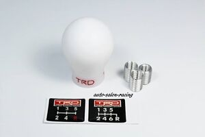 Trd White 5 6 Speed Manual Racing Shift Knob For Toyota Frs Ae86 Supra Mr2 Tc