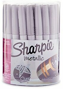 36 Sharpie Metallic Permanent Markers Fine Point Silver art Drawing Craft