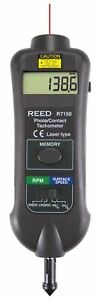 Reed R7150 Professional Combination Contact Non contact Laser Photo Tachometer