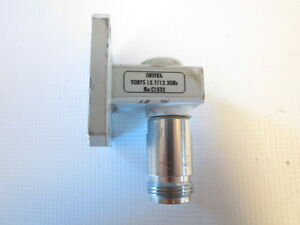 Oritel Tgn75 Waveguide Transition N Precision Female Wr75 Flange 10 15ghz