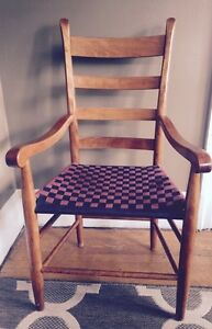 Vintage Shaker Style Ladder Back Armchair Cherry Reproduction Exc Quality