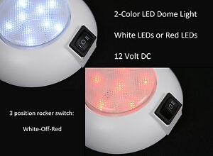Led Dome Lamp 4 High Power White Led Downlight 12 Volt Fixed Mount For