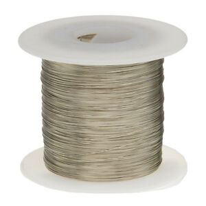 18 Awg Gauge Tinned Copper Wire Buss Wire 250 Length 0 0403 Silver
