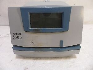 Pyramid 3500 Time Clock And Document Stamp No Key