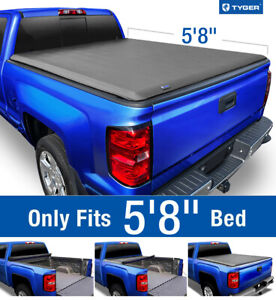 Fits 2007 2013 Silverado Sierra 5 8ft Bed Tyger T1 Roll Up Tonneau Cover