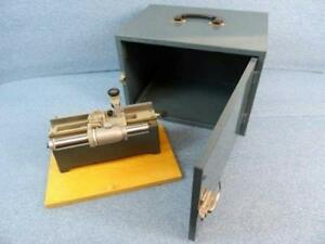 Central Scientific Gaertner Micrometer Slide Microscope W Metal Case