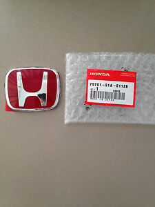 Brand New Front Or Rear Honda Jdm Red H Emblem Badge For Nsx S2000 Rsx Dc5 Accor