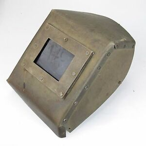 Vintage Welding Mask Shield Hood Helmet Cardboard Great Decoration Steampunk s4