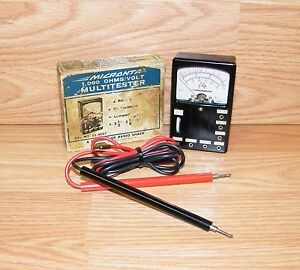 Vintage Radio Shack 22 4027 Micronta 1 000 Ohms volt Multitester read