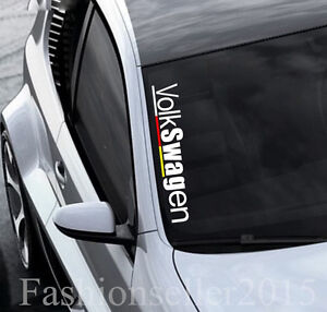 Vw Front Windshield Side Decal Vinyl Car Sticker For Volkswagen Auto Window Diy