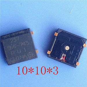 Passive Buzzer Square 10 10 3 Smd Buzzer Gold plated Feet Smt 743 Hot