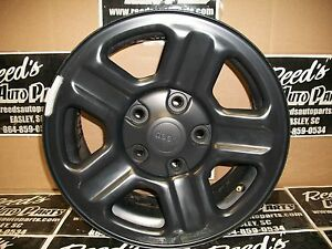 2015 Jeep Wrangler Jk 16x7 5 Lug 5 Spoke Black Steel W Cap Oem Wheel 09072a