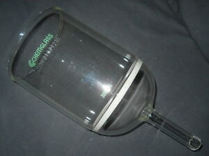 Chemglass 3000ml Coarse Fritted Buchner Filter Funnel 150mm Disc Damaged Stem