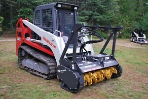 Bradco Skid Steer Mulcher Attachment 60 W Teeth Take Down 8 Trees