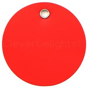 200 Red Plastic Tags 2 Diameter Tearproof Inventory Id Tag Circle Round