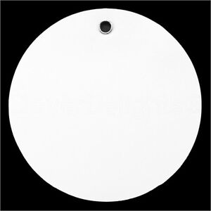 200 White Plastic Tags 3 Diameter Tearproof Inventory Id Tag Circle Round