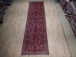 Semi Antique Persian Kashan Shah Abbasi Runner Handmade 4 X 13