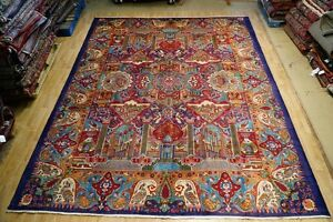 Persian Fine Quality Kashmar 10x13 Old Town 9 10 X 12 8 Rug Handmade