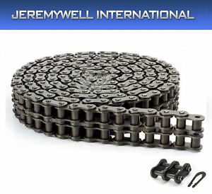100h 2 Double Strand Duplex Roller Chain 10 Feet With 1 Connecting Link