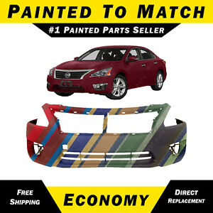 New Painted To Match Front Bumper Cover Replacement For 2013 2015 Nissan Altima