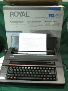 Royal Tq 720 Typewriter Word Processor Mint Condition High End