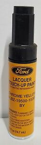 Nos Oem Ford Lacquer Touch Up Paint Chrome Yellow Albz 19500 1526a By