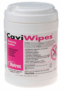 Caviwipes Multi purpose Disinfectant Pull up Wipes Case Of 1920 Free Shipping