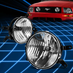 Chrome Clear Oe Front Driving Fog Light lamp Pair For 2005 2009 Ford Mustang Gt