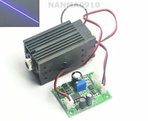 Adjustable 405nm 200mw Violet blue Focusable Line Beam Laser Diode Module 12v