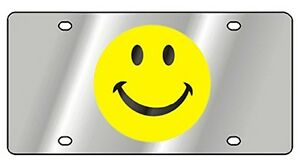New Yellow Smiley Face Novelty License Plate