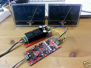 2x Power Amplifier Panel Vu Meter Db Audio Level With Driver Board Transformer