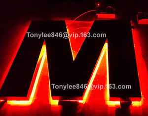 Vintage Neon Channel Letter Metal Sign Building Sign 12 Tall