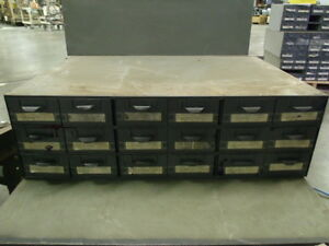Lyon Supply Parts Bin Cabinet With 18 Drawers 34 X 23 X 10 1 2