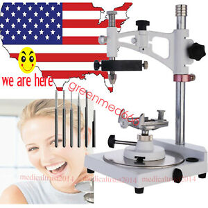 Usa Hot Dental Lab Parallel Surveyor W Tools Handpiece Holder W 6pcs Spindles