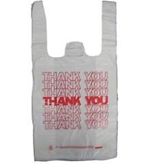 Small T shirt Thank You Grocery Shopping Bags 7 x5 x17 Pk 4 000