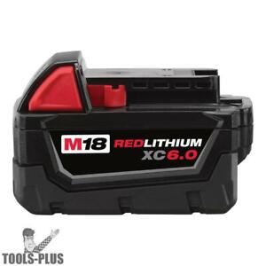 Milwaukee 48 11 1860 M18tm Red Lithium Xc6 0 Extended Capacity Battery Pack New