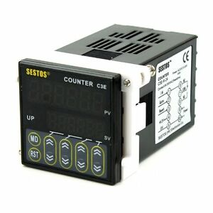Sestos Industial 6 Digital Preset Scale Counter Tact Switch 12 24v Ce C3e Count
