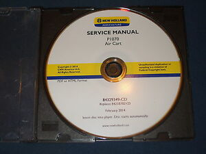 New Holland P1070 Air Cart Service Shop Repair Book Manual