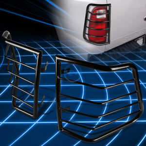 Black Steel Tail Light Guard Protector Cover For 2005 2010 Jeep Grand Cherokee