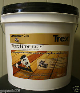 Trex Hideaway Gun Pail Metal Connector Clips Hidden Fasteners 500 Sqft Bucket