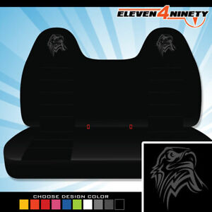 92 08 Ford F150 750 Black Front Bench Seat Covers T Eagle Logo Chse Logo Color