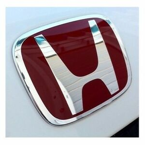 1xjdm Red H Rear Trunk Emblem Badge For Honda Accord 2008 2015 Coupe 2door Ex Lx