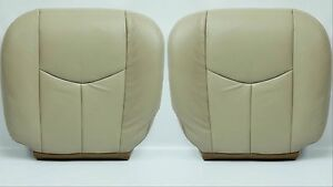 2003 To 2006 Chevy Tahoe Suburban Driver And Passenger Leather Seat Cover Tan522