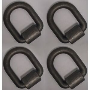 Set Of 4 Trailer 1 Weld On D Ring Anchor Point Rope Hook Chain Tie Down D rings
