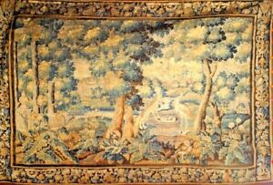 Belgian Style 17th Cent Horizontal Aubusson Style Tapestry