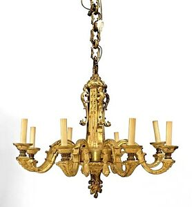 French Louis Xvi Style 19th Cent Gilt Bronze Chandelier