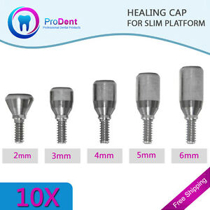 10x Healing Caps D 3 0mm Slim Platform For Dental Implant free Shipping