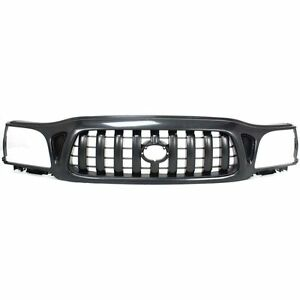 New Grille Assembly Grill Textured Black For Toyota Tacoma To1200246 2001 2004