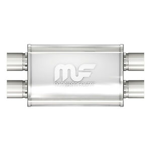 Magnaflow 11385 Performance Muffler 2 25 Dual dual 4x9x14 Oval Satin Stainless